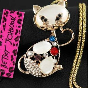 🆘Coming Soon🆘Betsey Johnson Crystal Cat Necklace